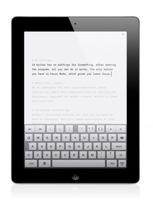 Writer for iPad