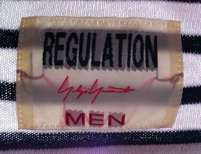 Yohji Yamamoto Regulation