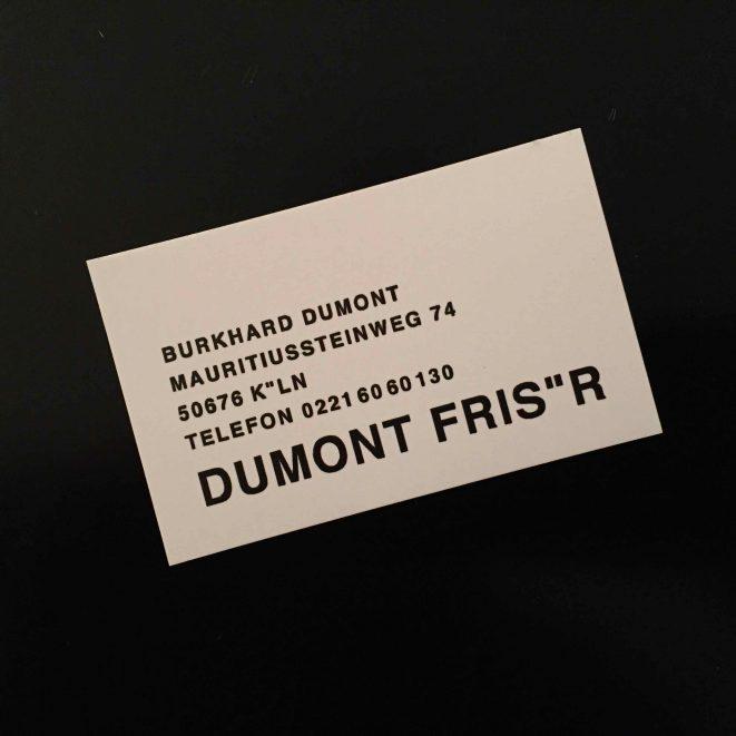 Burkhard Dumont Friseur Köln