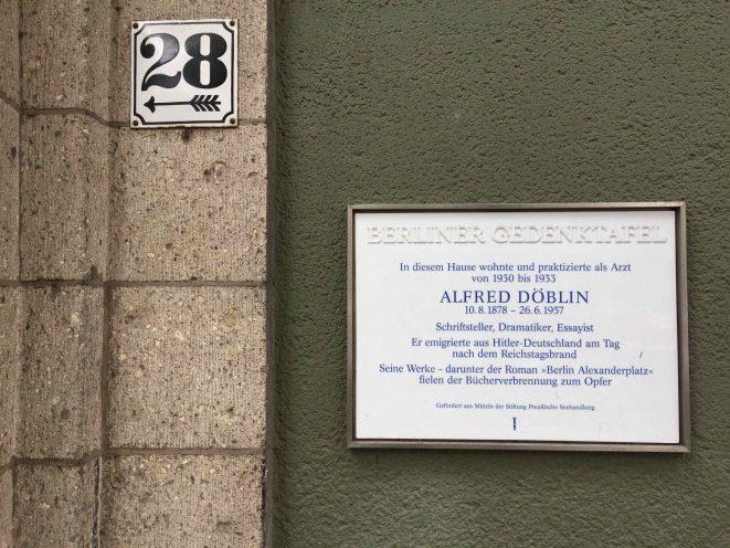 Alfred Döblin Kaiserdamm Berlin
