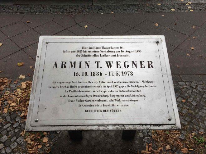 Armin T. Wegner Kaiserdamm Berlin