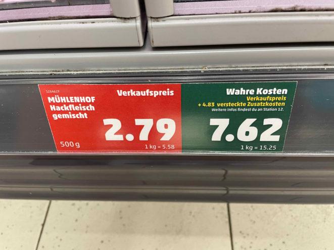 Wahre Preise Hackfleisch
